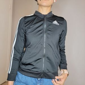 Adidas black windbreaker youth